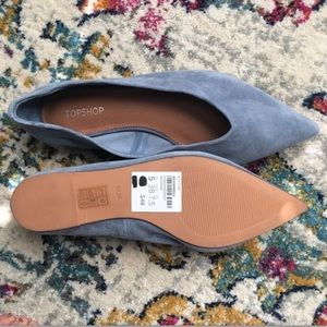 ASOS new baby blue suede pointed toe flats